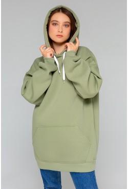 Pistachio color hoodie OVERSIZE  - Фисташковая Толстовка Оверсайз