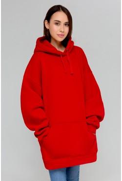Red Hoodie OVERSIZE  - Красное Худи Оверсайз
