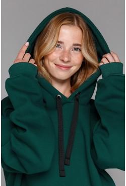 "Dark Green Hoodie OVERSIZE - Толстовка Оверсайз Цвет ""Темно-Зеленый"""