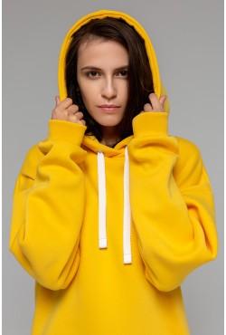 Yellow color hoodie OVERSIZE  -  Толстовка Оверсайз Желтая