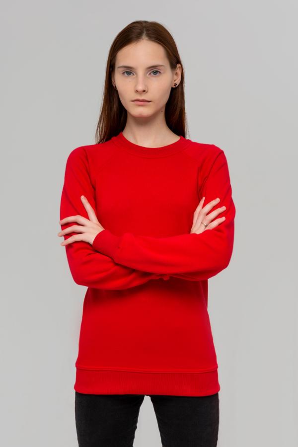 Красный свитшоты с рукавом реглан оптом